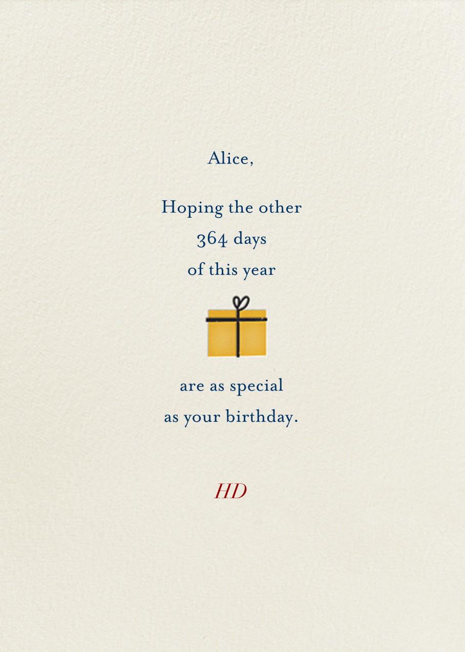 Birthday Girl (Blanca Gomez) - Deep - Red Cap Cards - Birthday - card back