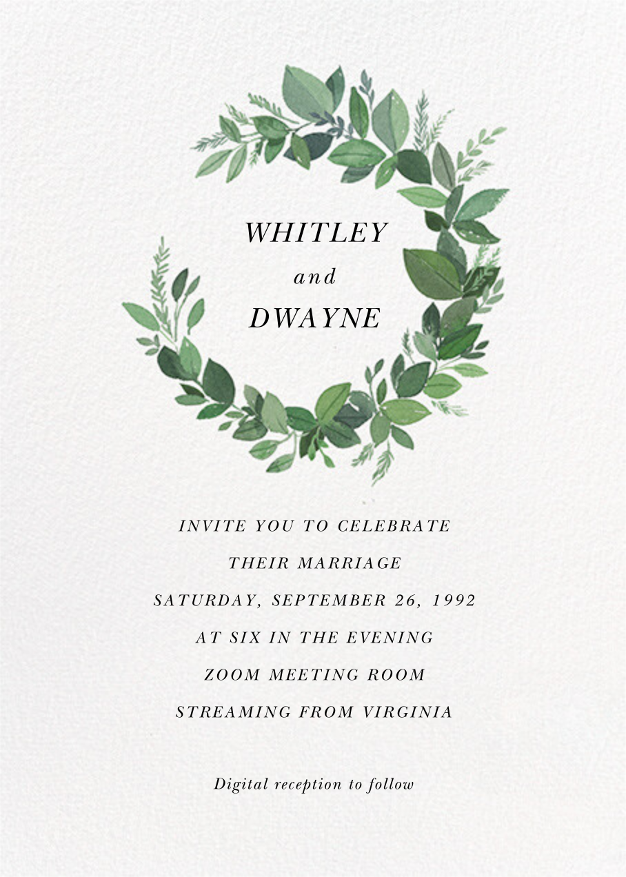 Natural Wreath (Invitation) - Paperless Post - All