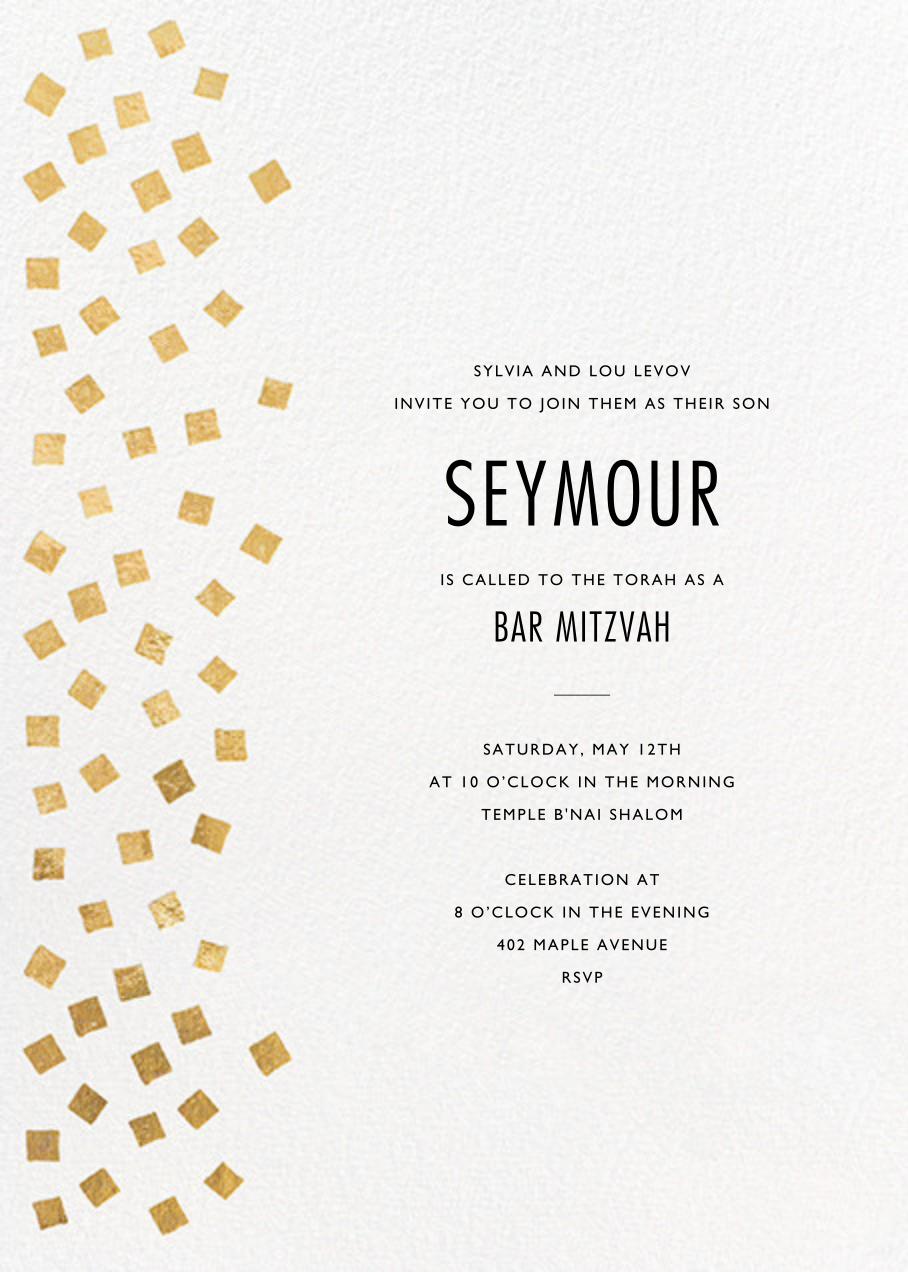 Fette - Gold/White - Kelly Wearstler - Bat and bar mitzvah