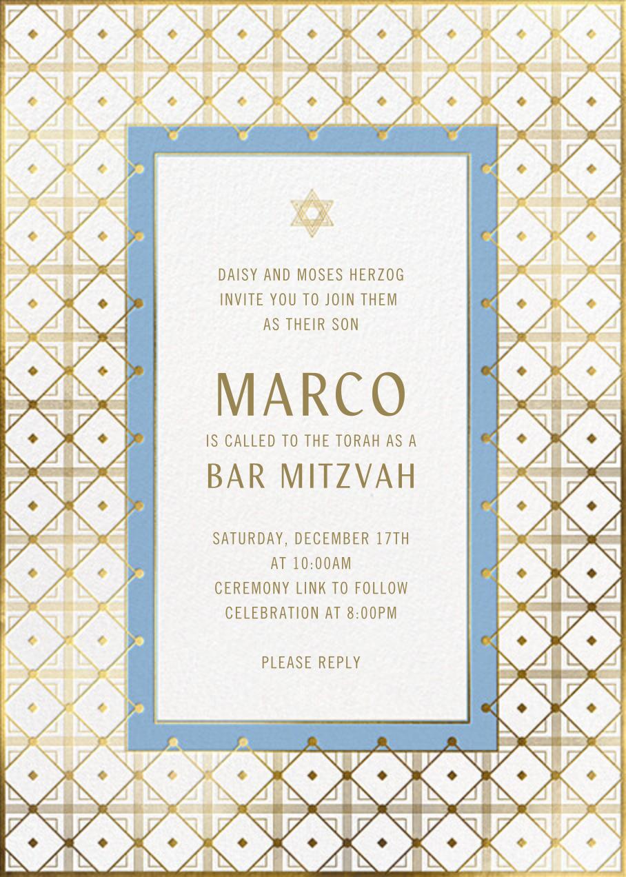 Gold Grid - Paperless Post - Bat and bar mitzvah
