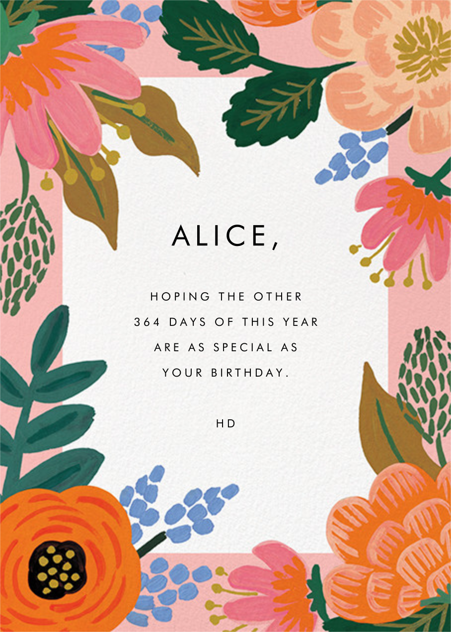 Bordeaux Birthday - Rifle Paper Co. - Cameo - card back
