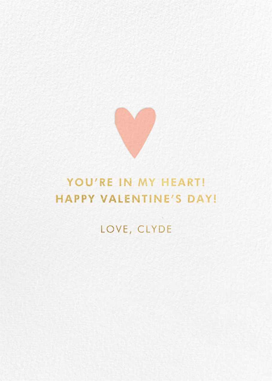 Gold Fields - Hello!Lucky - Valentine's Day - card back