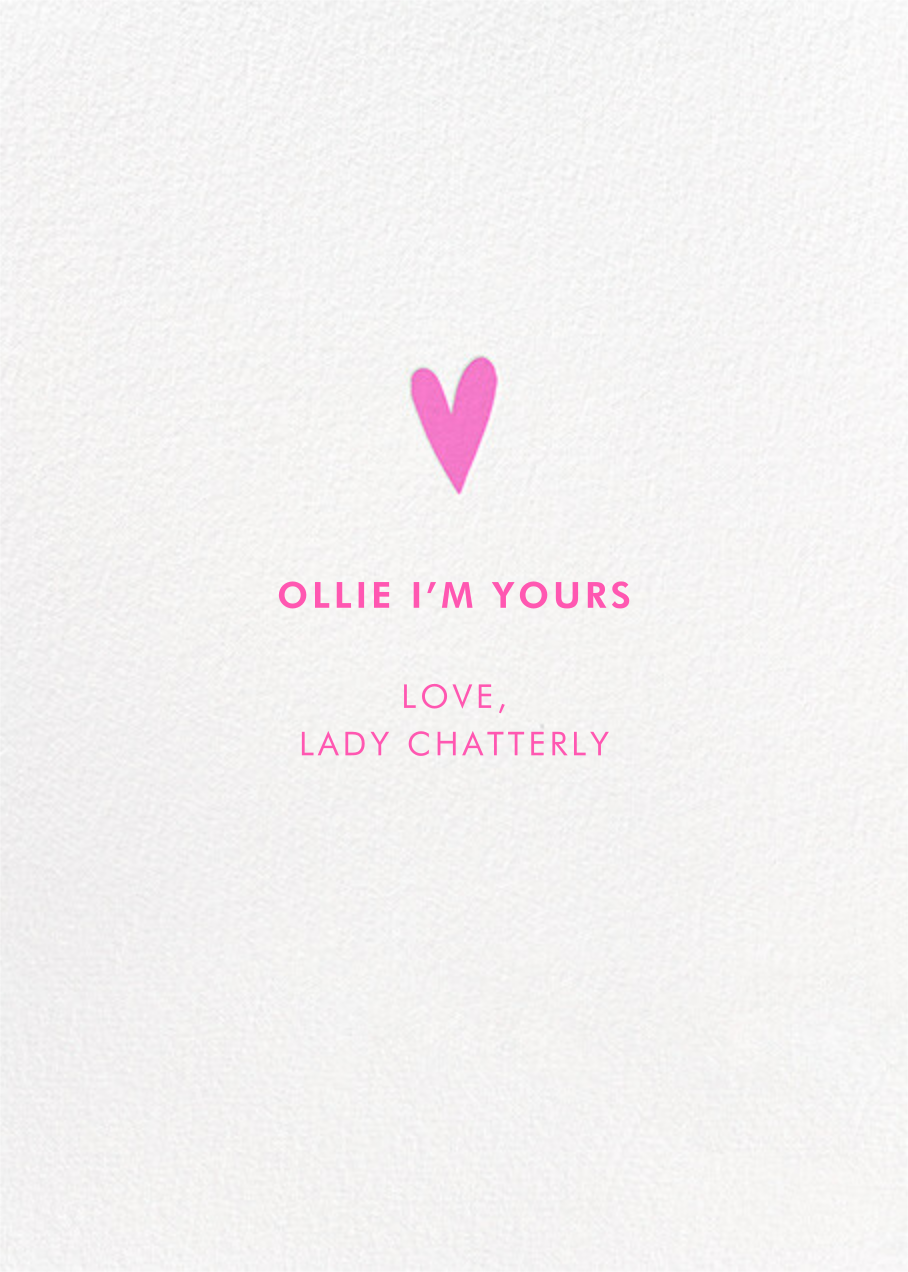 Cheddar with You - Hello!Lucky - Valentine's Day - card back
