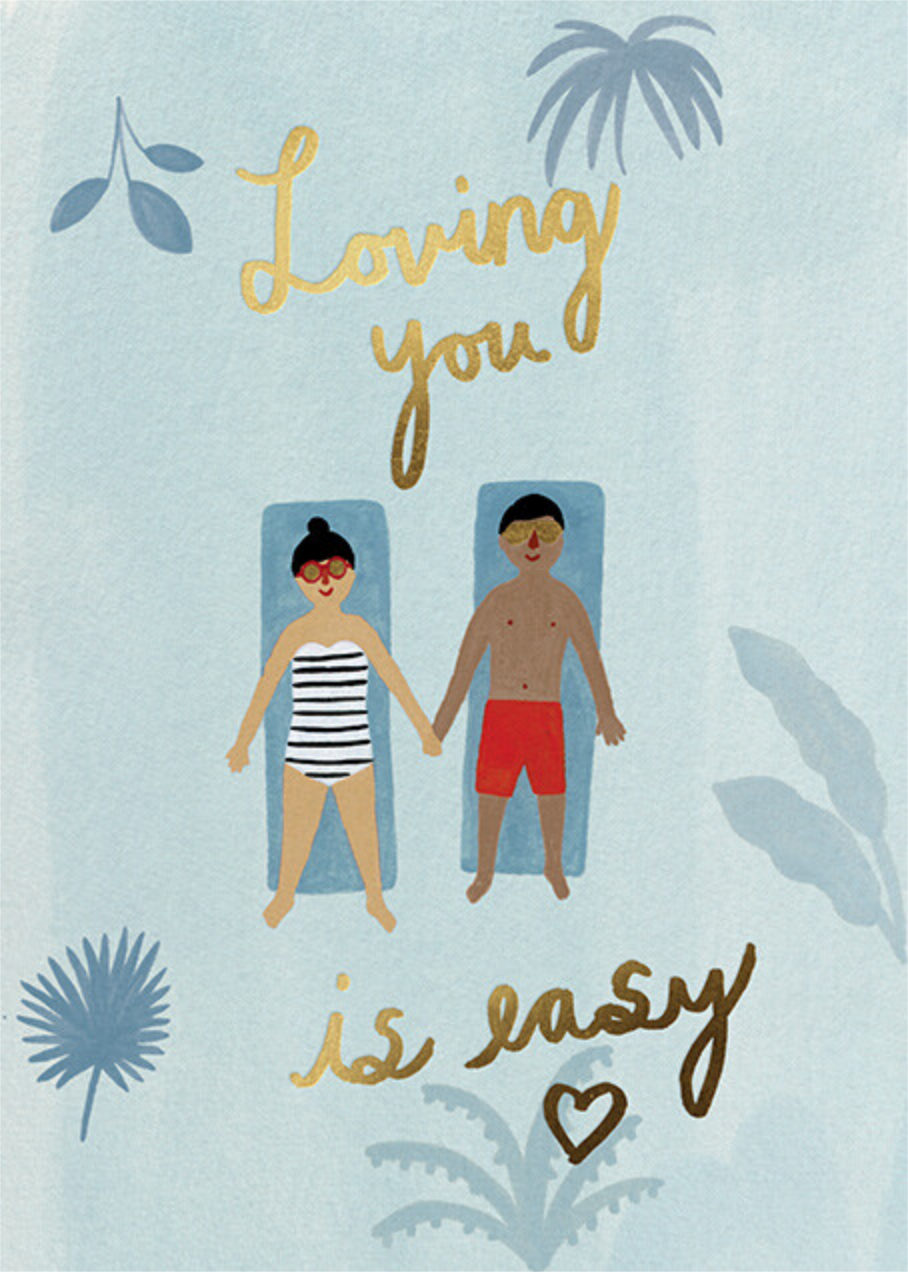 Easy Breezy (Kate Pugsley) - Medium/Tan - Red Cap Cards - Valentine's Day
