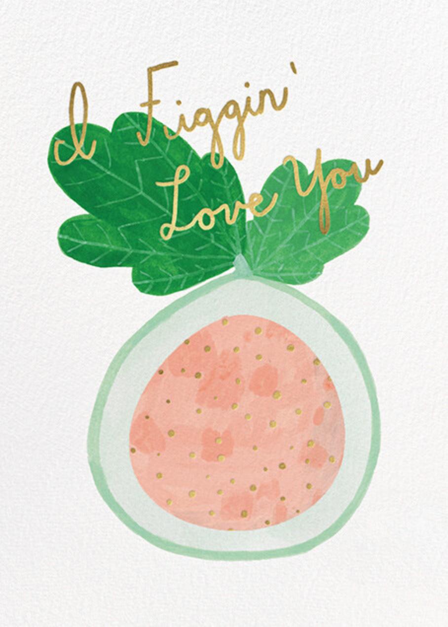 Figgin' Love (Kate Pugsley) - Red Cap Cards - Valentine's Day