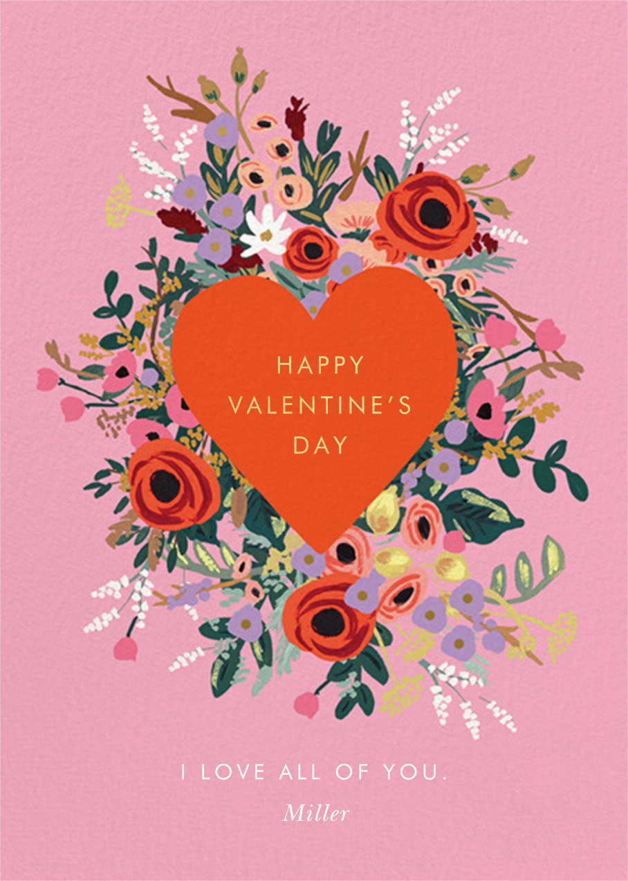 Blooming Heart Valentine's Day - Rifle Paper Co. - Valentine's Day