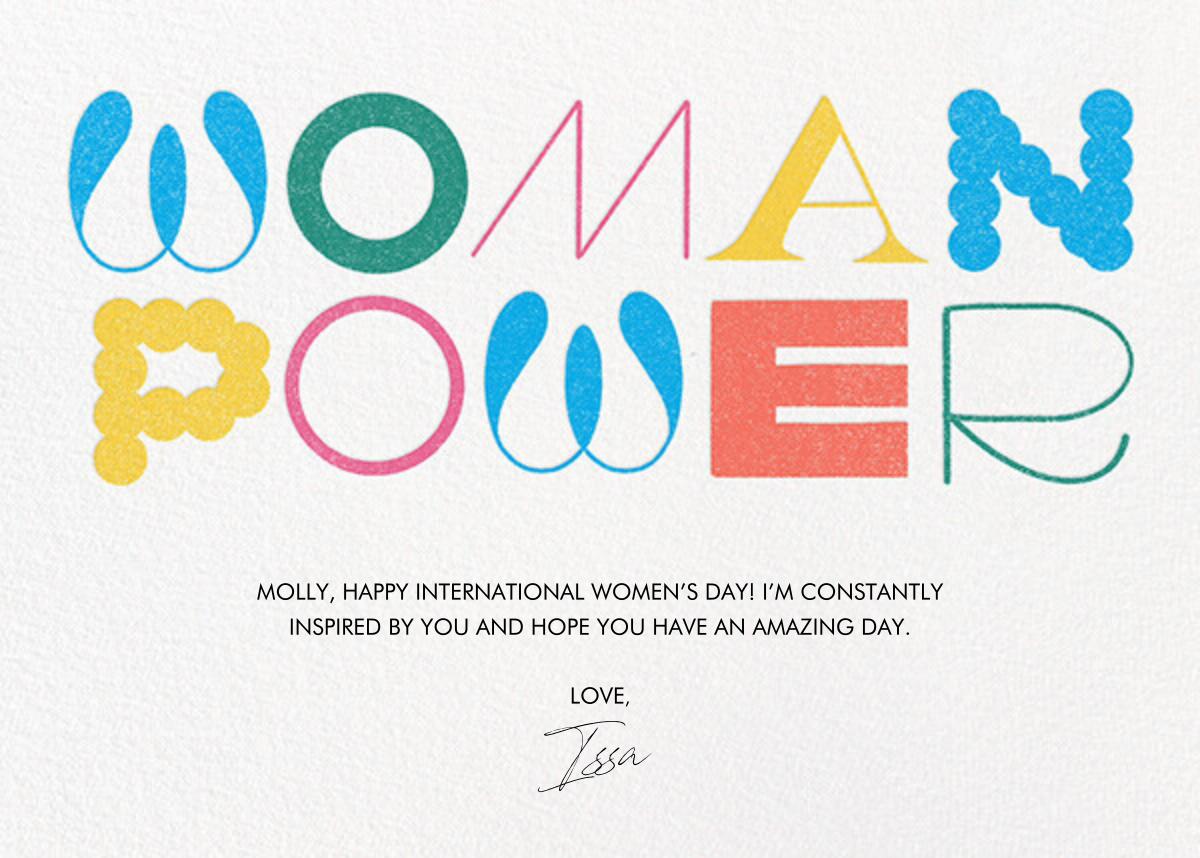 Feel the Power - Multi - Paperless Post - International Women's Day