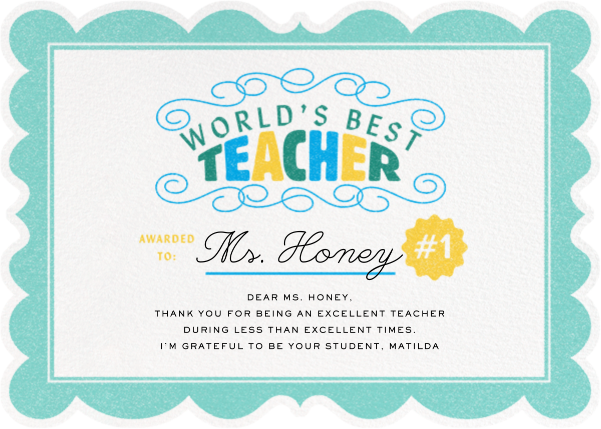 Certified Teacher - Paperless Post - Thank you