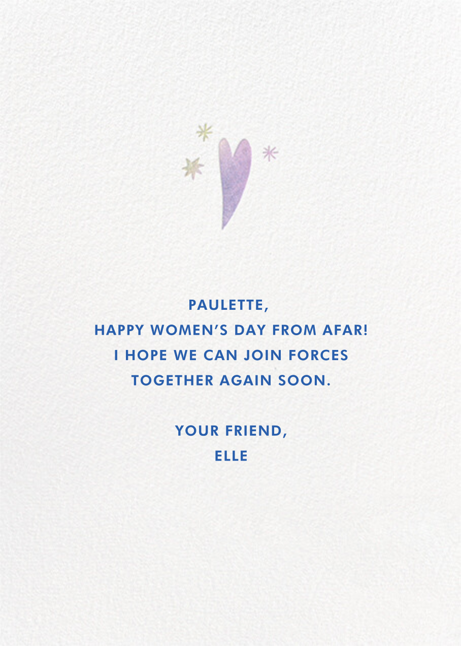 Brighter Future - Hello!Lucky - International Women's Day - card back