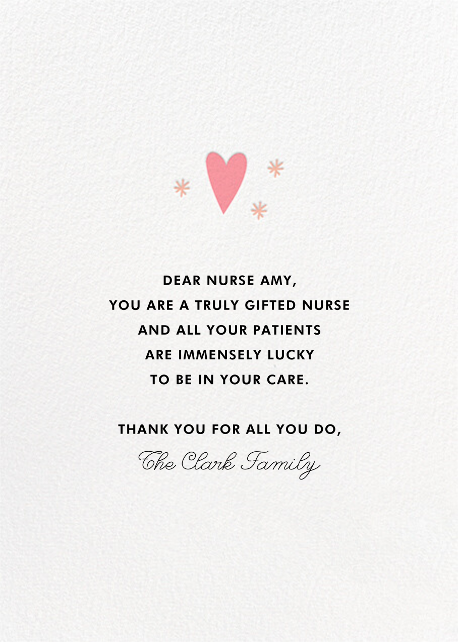Healing Heart - Hello!Lucky - National Doctors' Day - card back