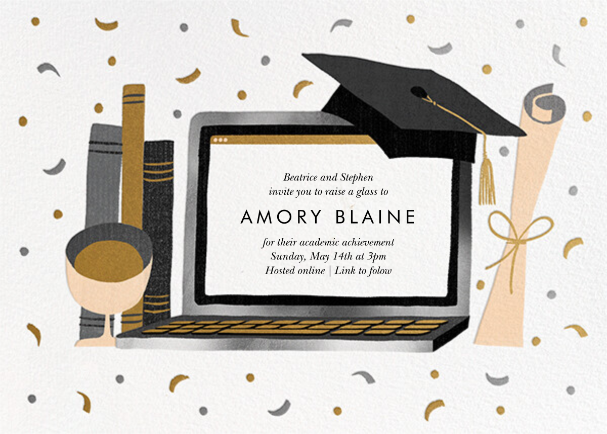 Captop - Paperless Post - Graduation party