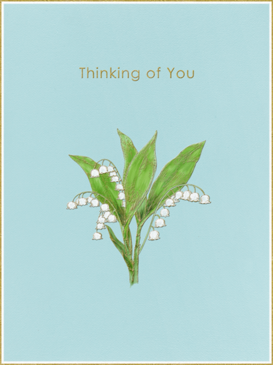 Lily of The Valley - Thinking of You (Light Blue) - Paperless Post - Get well