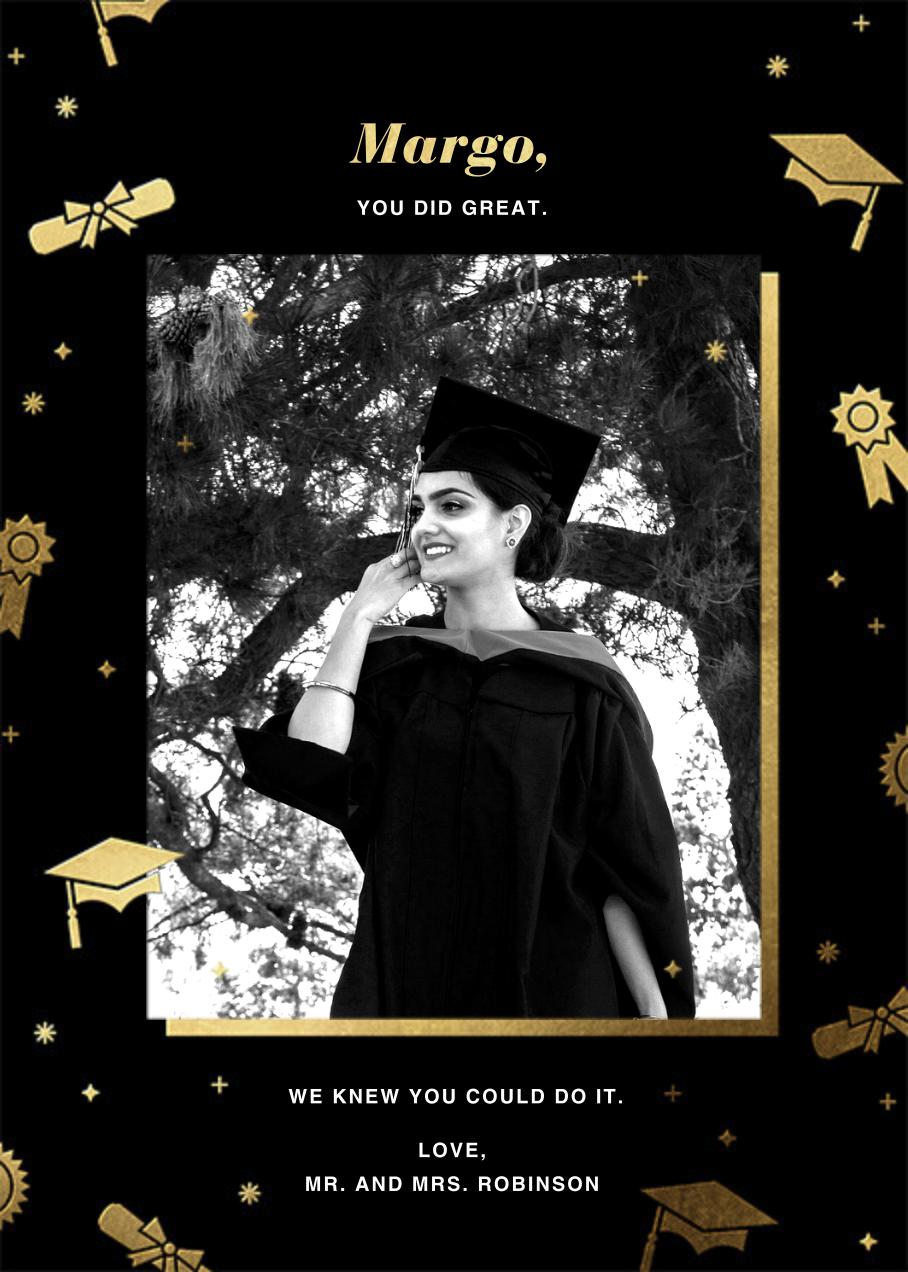 Grad Confetti - Black - Paperless Post - Graduation cards