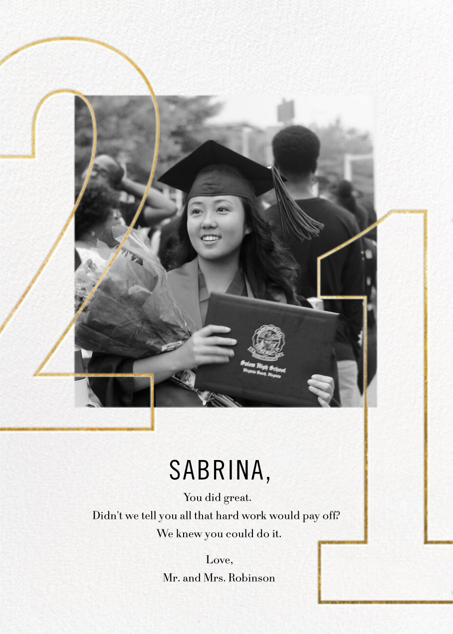 Double Digits - Paperless Post - Graduation cards
