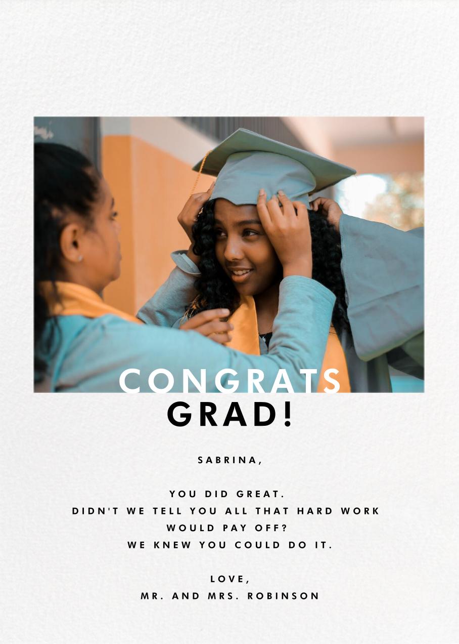 Horizontal Photo on Tall - Paperless Post - Graduation cards