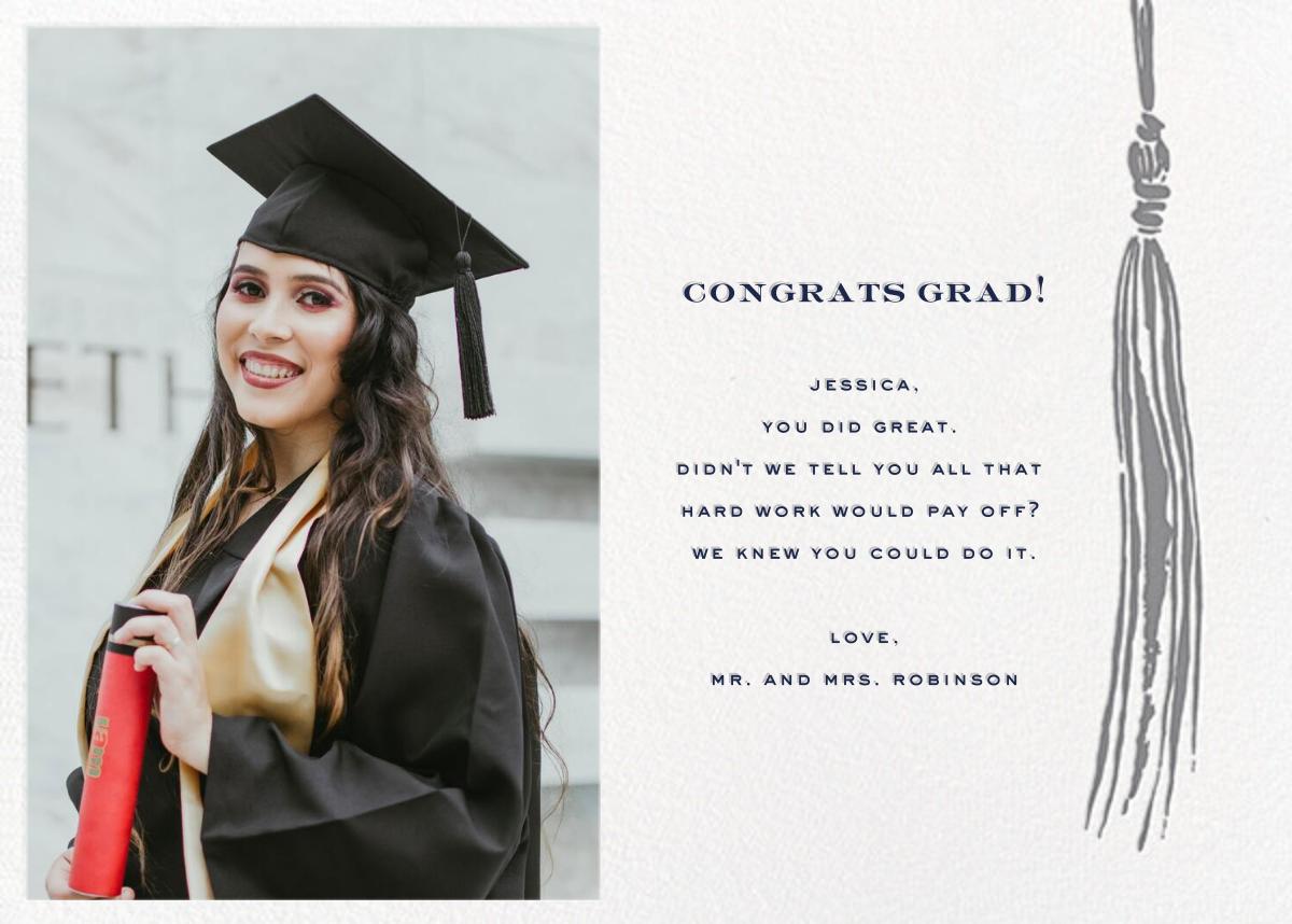 Tassel (Photo) - Gray - kate spade new york - Graduation cards