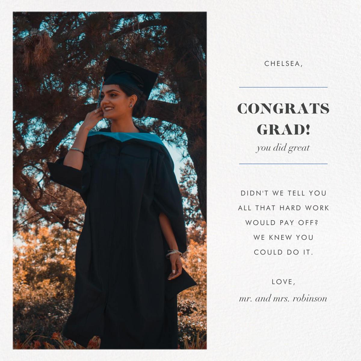 Split Square - Paperless Post - Graduation cards