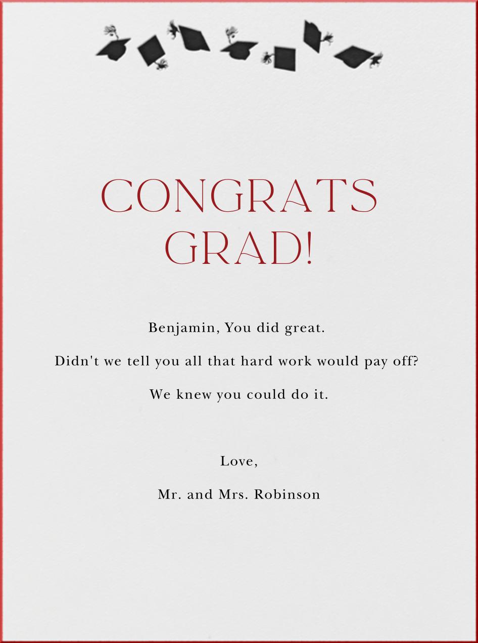 Graduation Hats (Tall) - Paperless Post