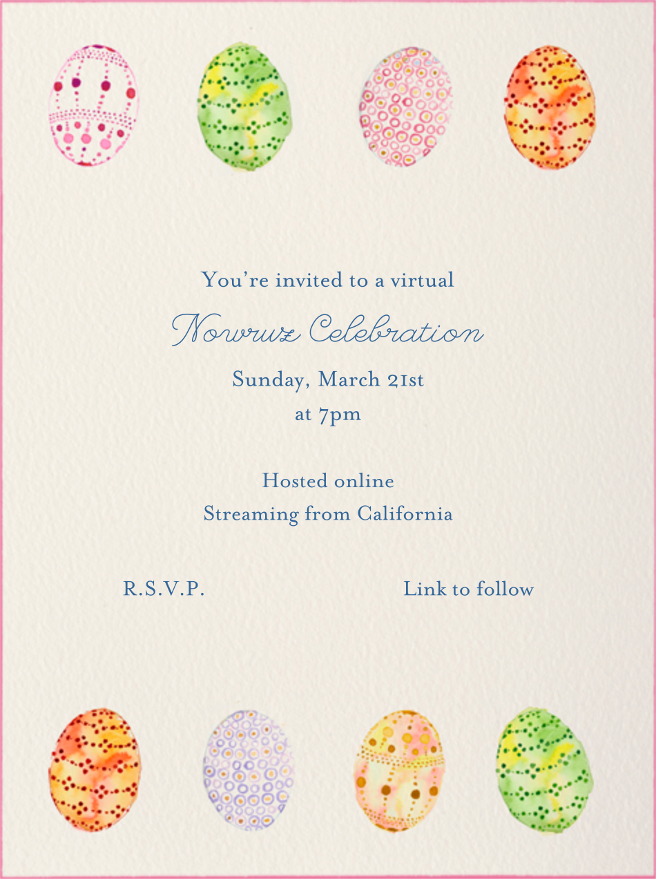 Watercolored Eggs - Paperless Post - Virtual parties