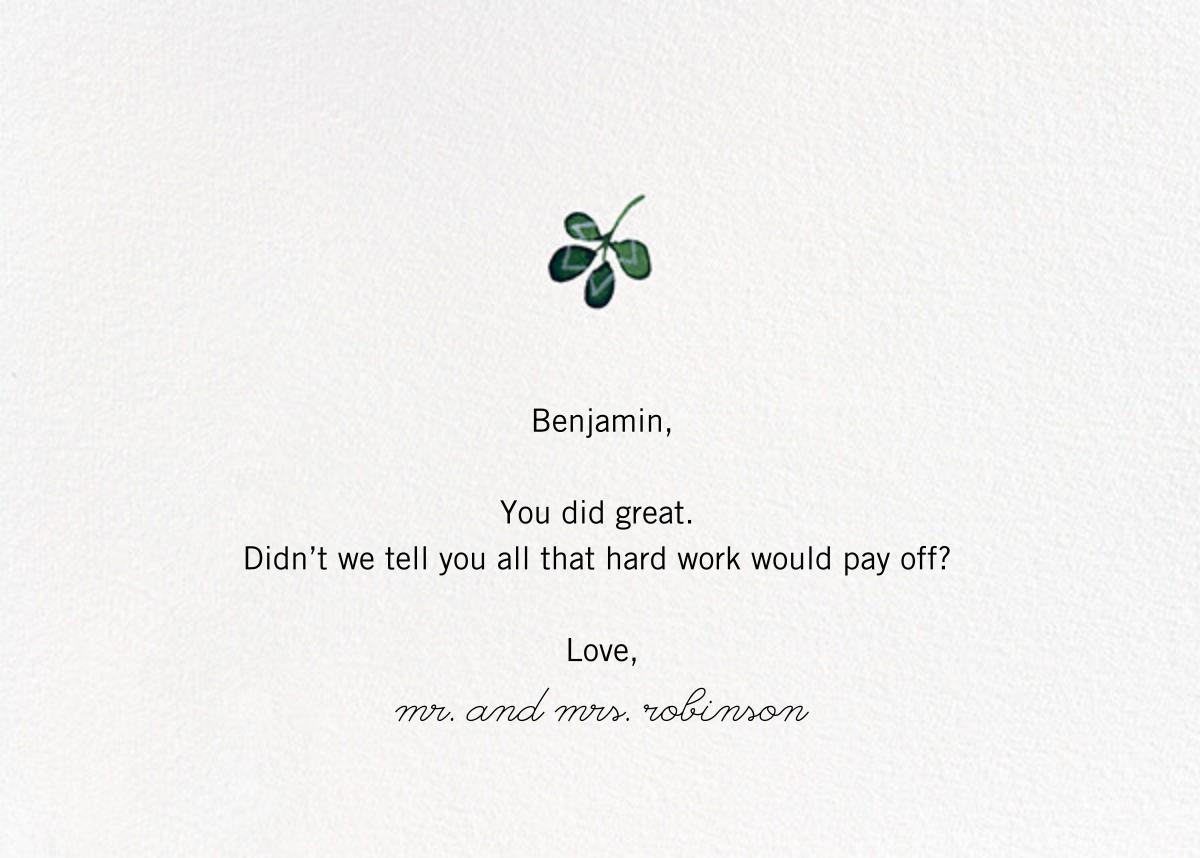 Pelargonia (Anna Emilia Laitinen) - Red Cap Cards - Back