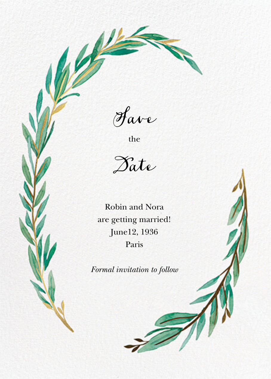 Olive Branch - Paper Source - Save the date