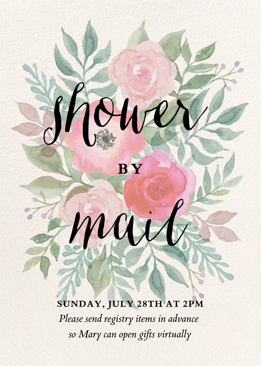 Watercolor Garden Floral - Paper Source - Baby shower