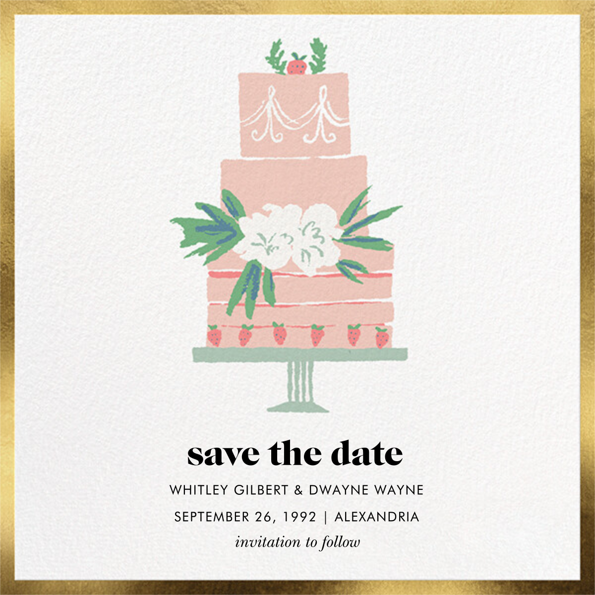 Three Tiered - kate spade new york - Save the date