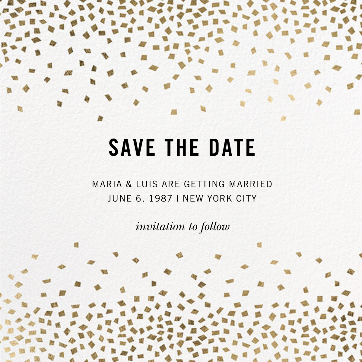 Fetti (Square) - Kelly Wearstler - Save the date