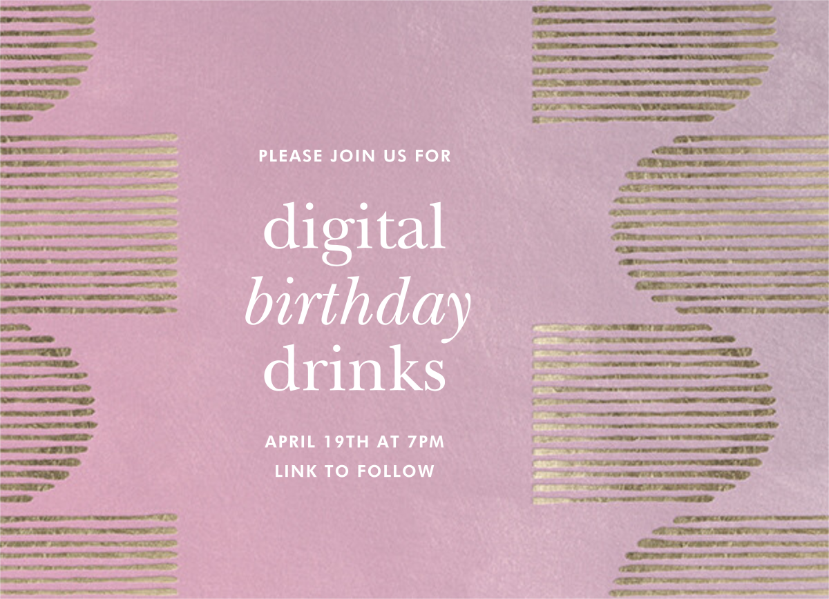 Inlay - Mauve - Kelly Wearstler - Adult birthday