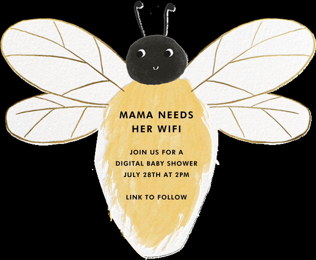 Bee There - Meri Meri - Baby shower - card back