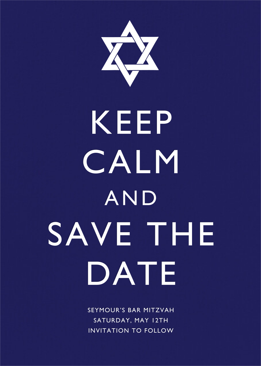 Keep Calm and Save the Date - Paperless Post - Party save the dates