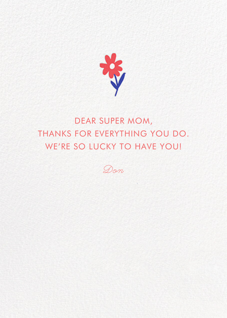 Picked a Winner - Hello!Lucky - Mother's Day - card back