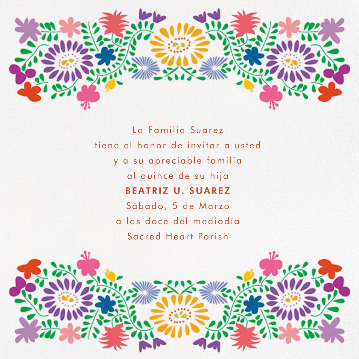 Oaxacan (Square) - White - Paperless Post - Quinceañera