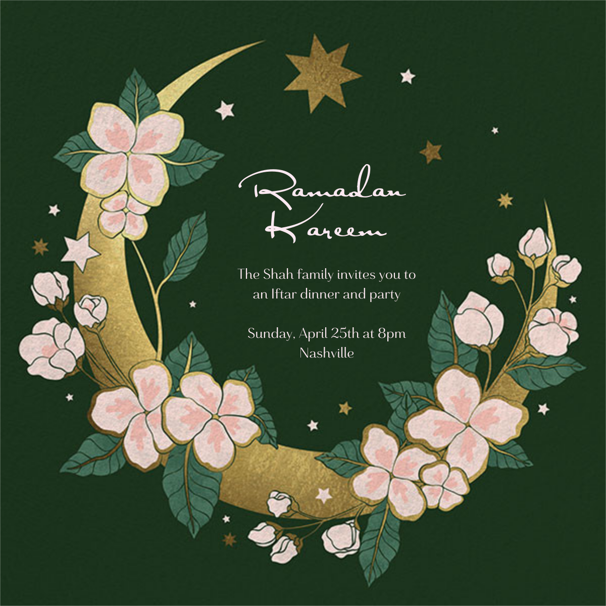 Moon in Bloom - Paperless Post - Ramadan