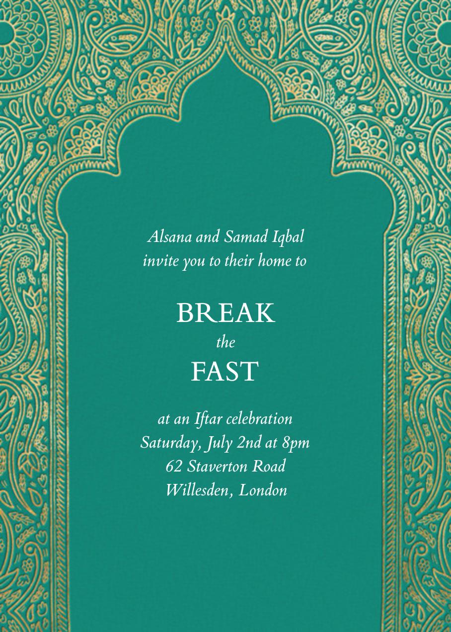 Dvaar - Teal - Paperless Post - Ramadan