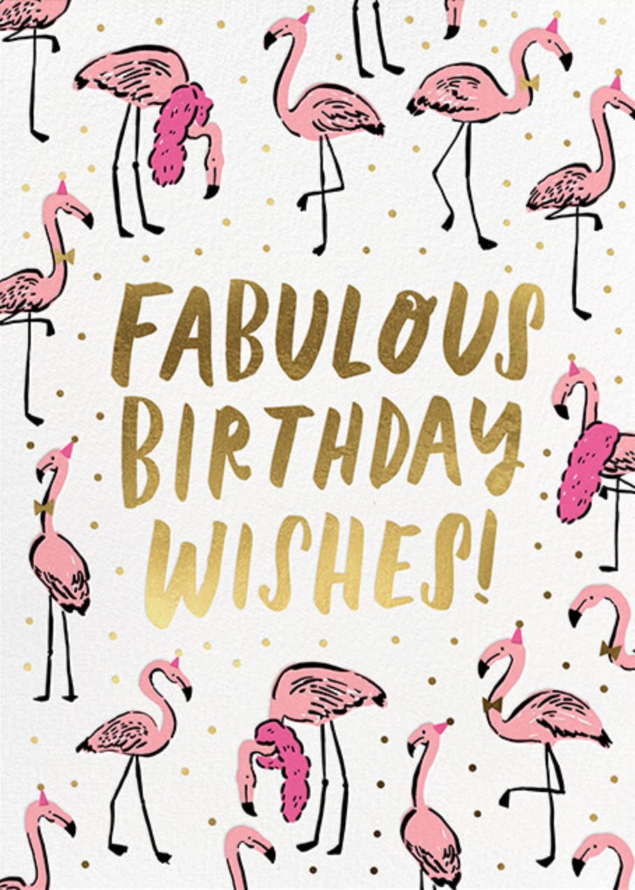 Fab Flamingos - Hello!Lucky - Birthday
