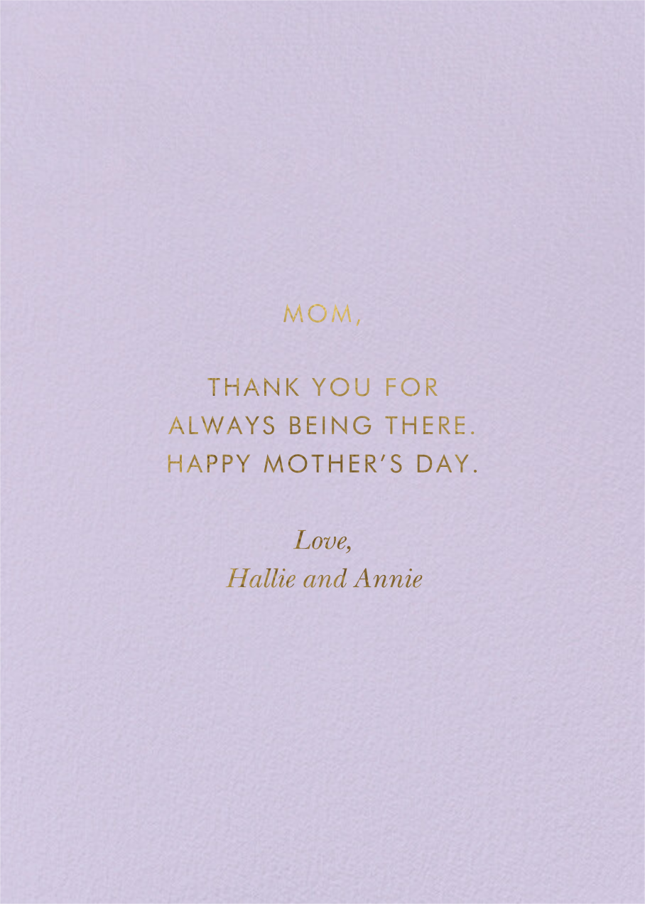 Rosy Mother's Day - Rifle Paper Co. - Back