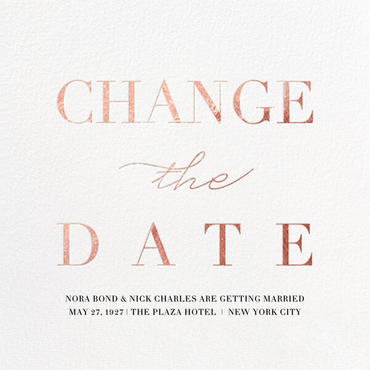 Remnant (New Date) - Rose Gold - Paperless Post - Save the date
