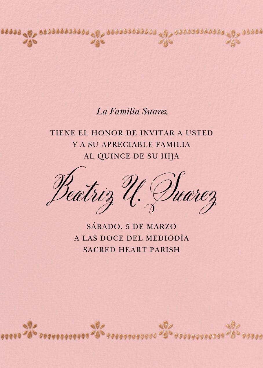 Ornate Occasion Photo - Pavlova - Paperless Post - Quinceañera - card back