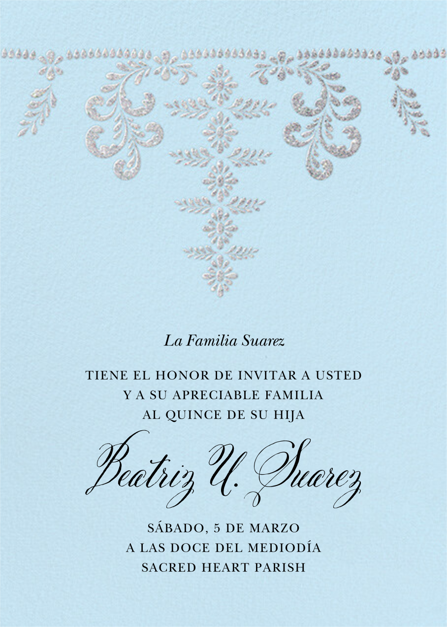 Ornate Occasion - Glacier - Paperless Post