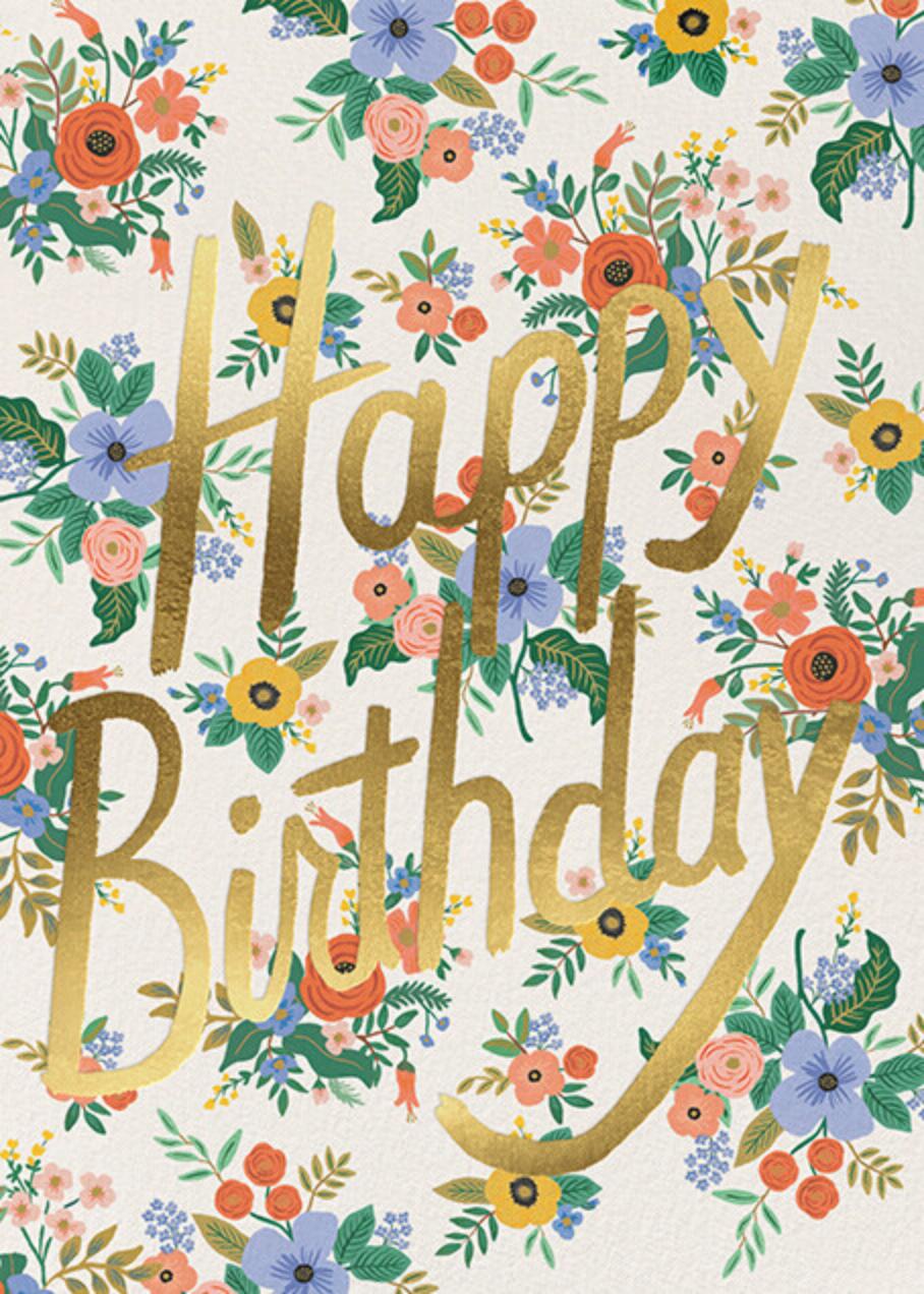 Garden Birthday - Cream - Rifle Paper Co. - Birthday