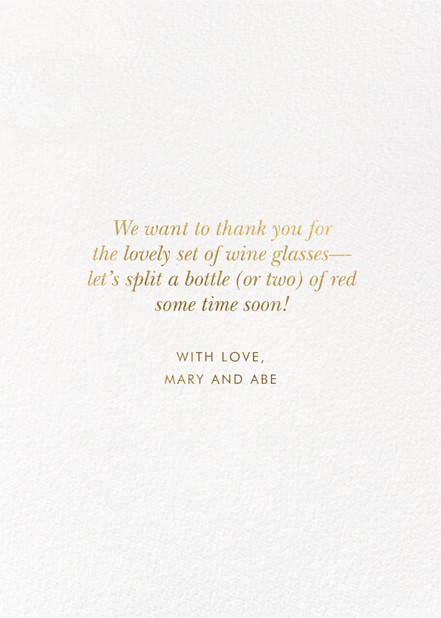 Just Married Getaway Thank You - Rifle Paper Co. - Back