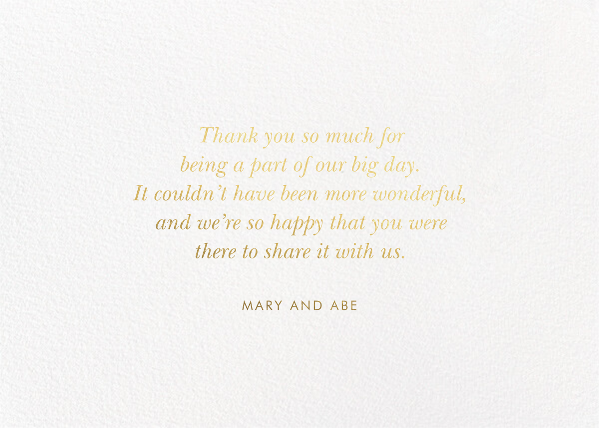 Juliet Rose Thank You - Rifle Paper Co. - Back
