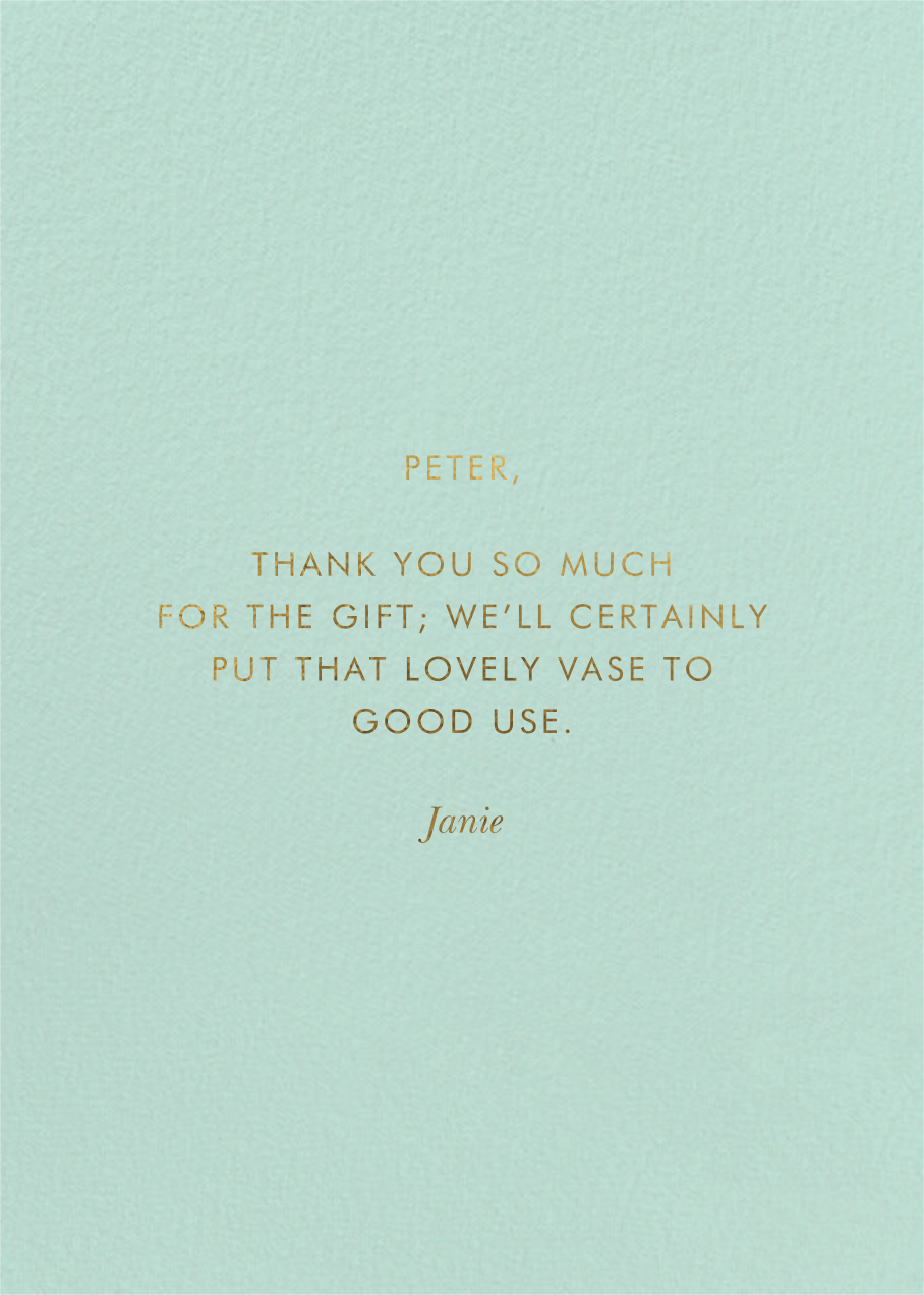 Garden Party Thank You - Rifle Paper Co. - Back
