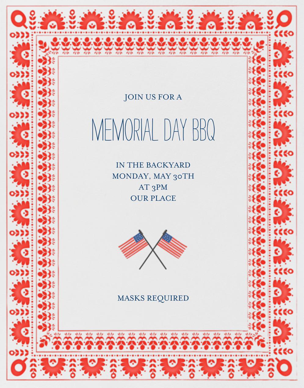 Betsy Ross Handy Work - Red - Mr. Boddington's Studio - Memorial Day