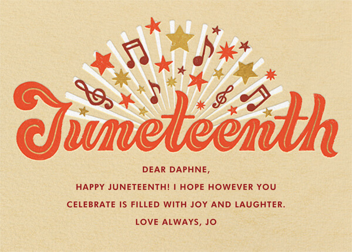 Freedom Song - Paperless Post - Juneteenth