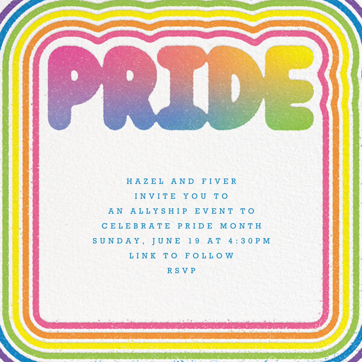 Round Rainbow - Paperless Post - Pride party