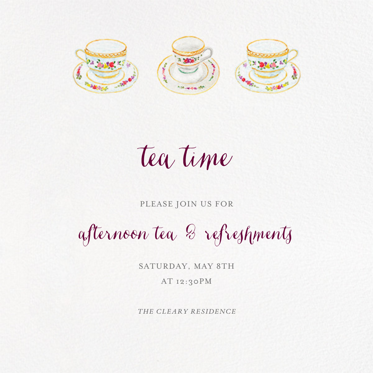 Three Cups of Tea - Paperless Post