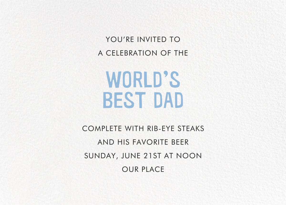 Celebrate Dad - Hello!Lucky - Back