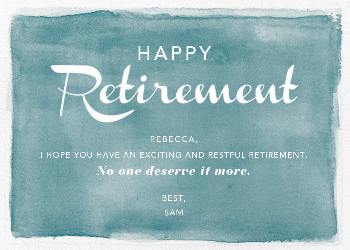 Watercolor Retirement - Teal - Paper Source
